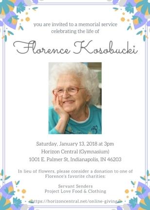 Mom K Memorial Flyer